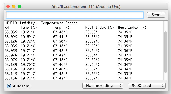 Connect Arduino to HTU21D Humidity - Temperature Sensor