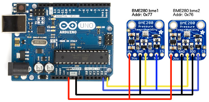 Hookup | Software | Arduino to Multiple BME280 Barometric Pressure