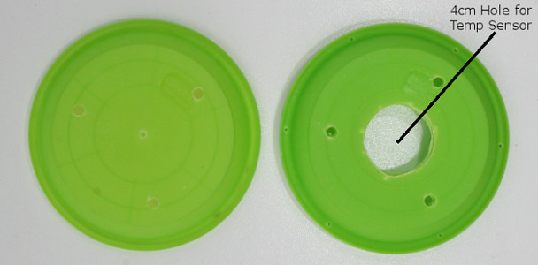 Plate with holes