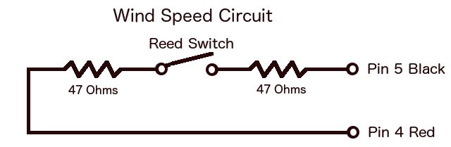 Davis Anemometer Wind Speed Circuit