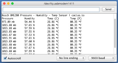 Arduino Sample Console Output