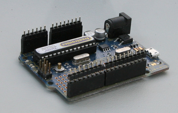 Arduino Shield Male Header Soldering Setup